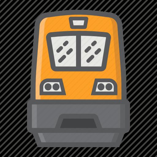 locomotive, modern, railway, train, transport, transportation, vehicle icon