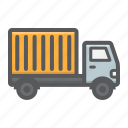 delivery, service, shipping, transport, transportation, truck, vehicle icon