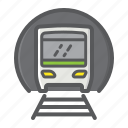 metro, railway, subway, train, transport, transportation, vehicle icon