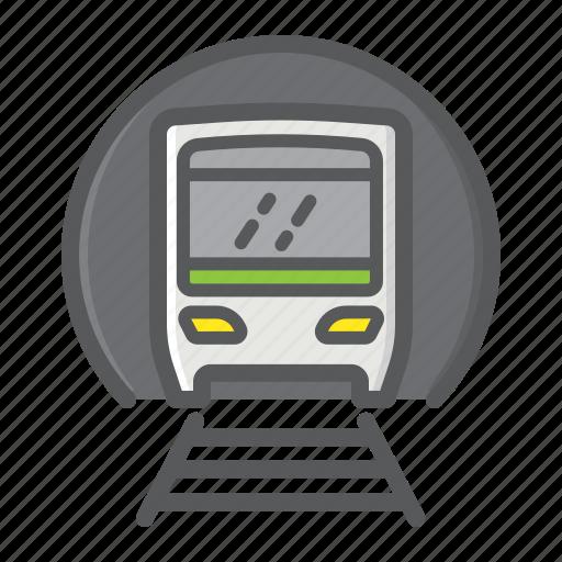 metro, railway, subway, train, transport, transportation, vehicle icon