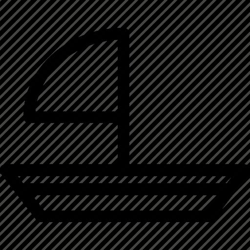 boat, sailboat, surf, watercraft icon