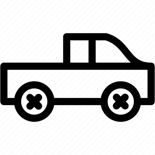 car, pickup, pickup truck, truck, vehicule icon