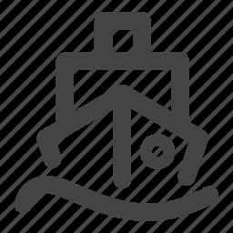 boat, ferry, marine, ship, transportation, travel, vessel icon