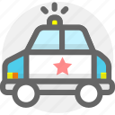 auto, criminal, police, police car, transport, transportation, vehicle icon