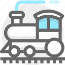 summer, train, transport, transportation, travel, vacation icon