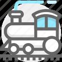 summer, train, transport, transportation, travel, vacation icon