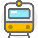 subway, tourism, train, transport, transportation, travel icon