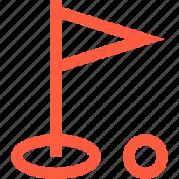 club, flag, game, golf, leisure, play, sport icon