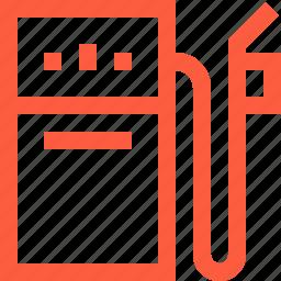 filling, fuel, gas, gasoline, petrol, pump, station icon