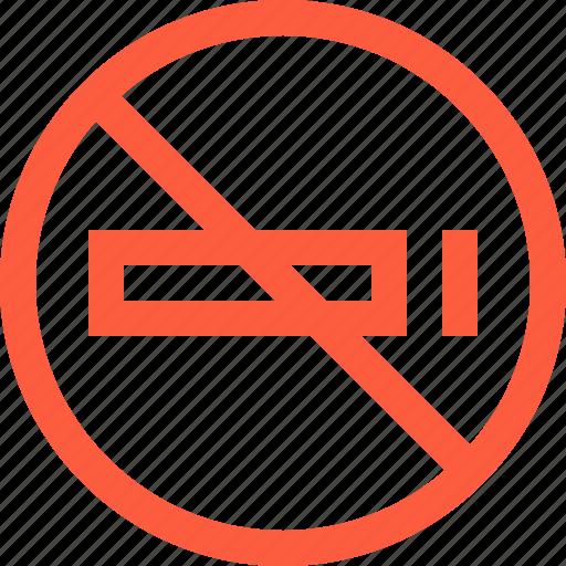 No, forbidden, sign, smoke, smoking, sticker icon