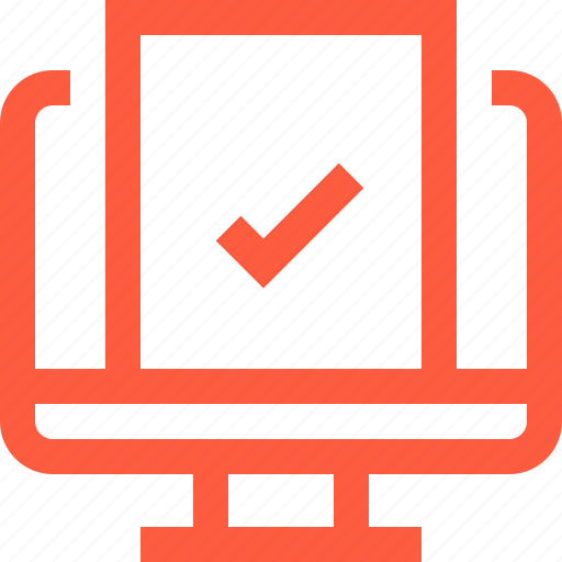 application, booking, complete, done, form, online, success icon