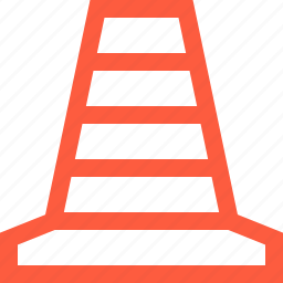 cone, construction, repair, road, safety, temporary, traffic icon