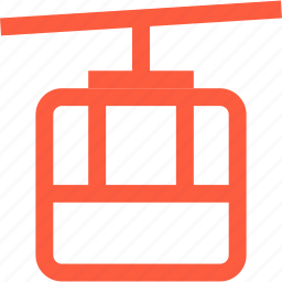 cable, cableway, car, funicular, rope, transportation, travel icon