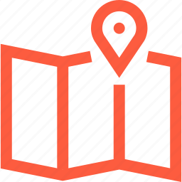 cartography, location, map, navigation, orienteering, point, travel icon