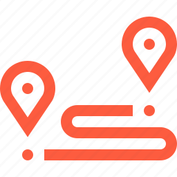 distance, planing, planning, route, travel, trip, way icon
