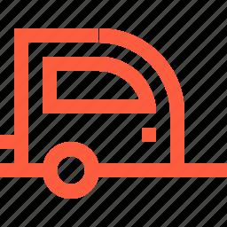 camper, camping, caravan, trailer, travel, vehicle icon