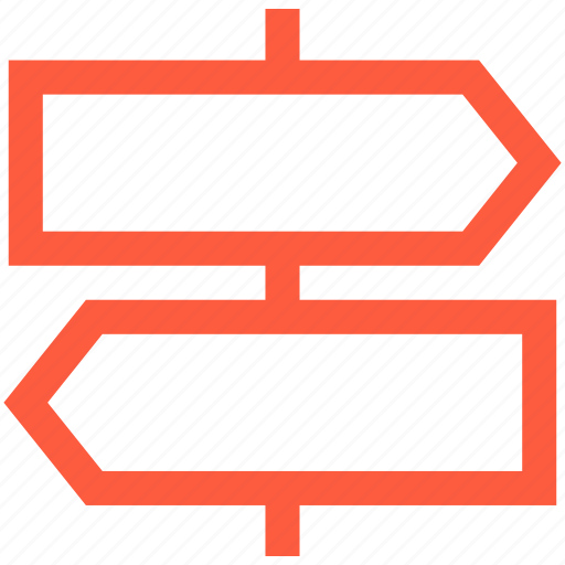 direction, information, pointer, post, sign, travel, way icon