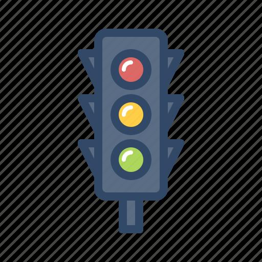 light, road, street, traffic, transportation, travel, vehicle icon