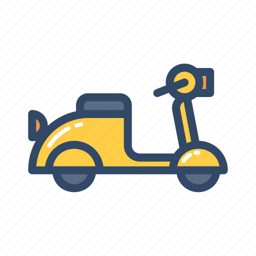 road, scooter, transportation, travel, vehicle icon