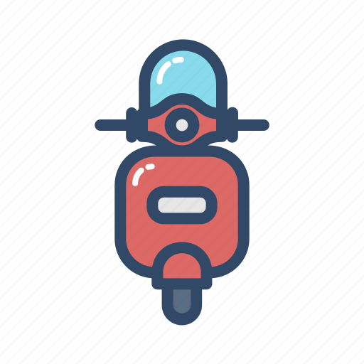 scooter, transportation, travel, vehicle icon
