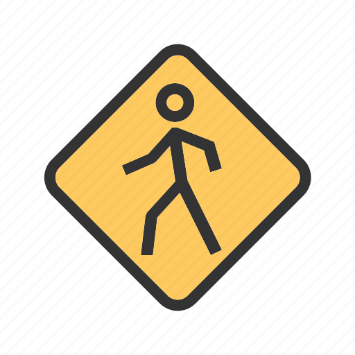 pedestrian, person, road, sign, street, traffic, transportation icon