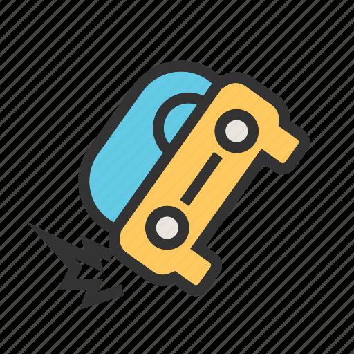 accident, car, crash, damage, destruction, disbalance, transport icon