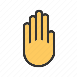 control, hand, restriction, sign, stop, traffic, warning icon