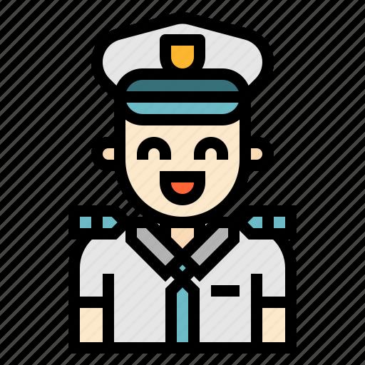 avatar, captain, transportation icon