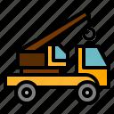 crane, transportation, truck icon