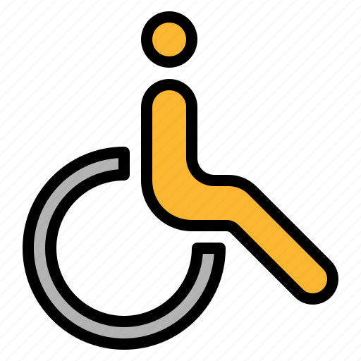 disabled, person, wheelchair icon