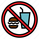 drink, food, no, transportation icon