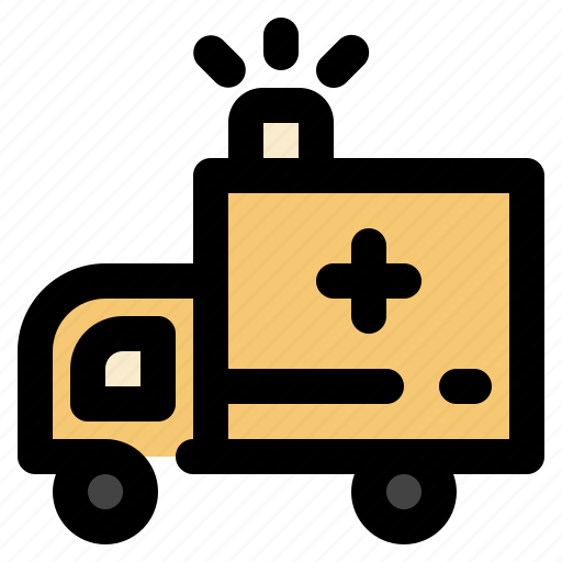 ambulance, cargo, logistic, transportation icon