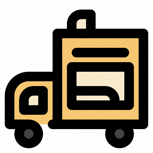 cargo, foodtruck, logistic, transportation icon