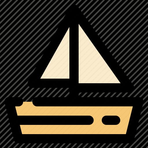 cargo, logistic, sailboat, transportation icon