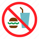 drink, food, no, transportation icon