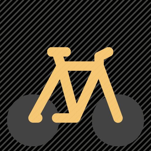 cargo, logistic, mountainbike, transportation icon