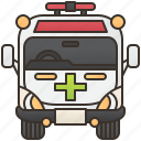 ambulance, emergency, paramedic, rescue, van icon
