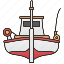 boat, fishery, fishing, ocean, trawler icon