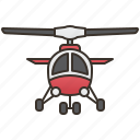 aircraft, chopper, flight, helicopter, travel icon