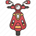 motorbike, motorcycle, scooter, travel, vehicle icon