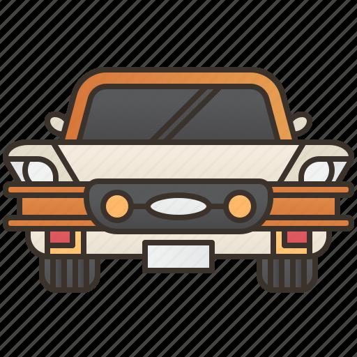 car, classic, old, sedan, vintage icon