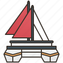 sailboat, sea, ship, travel, yacht icon