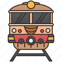 commuter, railway, tourism, train, transportation icon