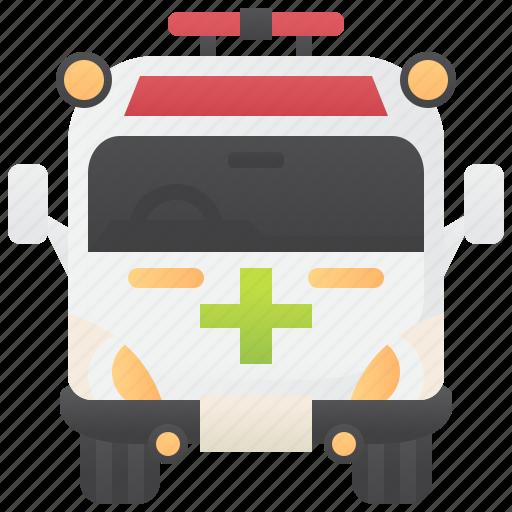ambulance, emergency, paramedic, rescue, van icon