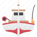 boat, fishery, fishing, ocean, trawler icon
