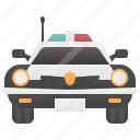 car, cop, crime, emergency, police icon