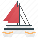 sailboat, sea, ship, travel, yacht icon