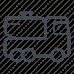 chemical, fuel truck, liquid, oil, tank, tank truck, transportation icon