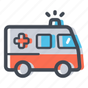 ambulance, emergency, healthcare, hospital, redcross, transportation icon