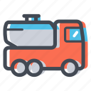 chemical, fuel truck, liquid, oil, tank, tank truck, transportation icon